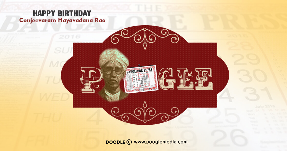 Happy Birthday Doodle to Conjeevaram Hayavadana Rao