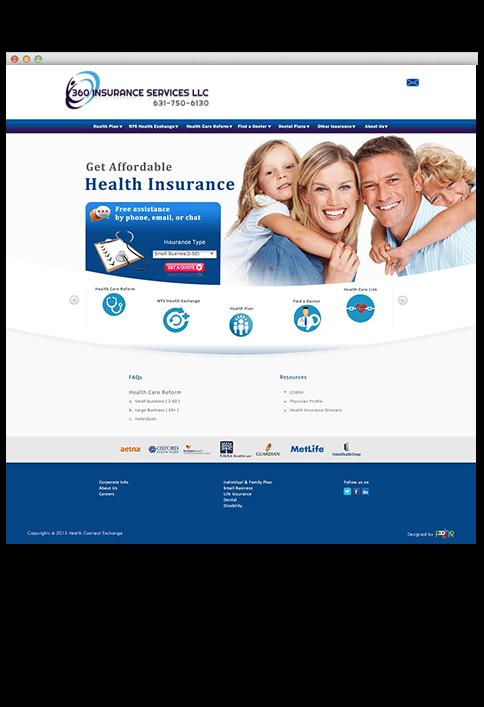 360 Insurance Services LLC - WEB DESIGN WORK