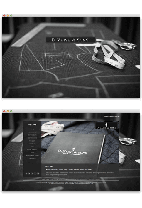 D.Vaish & Sons - WEB DESIGN WORK