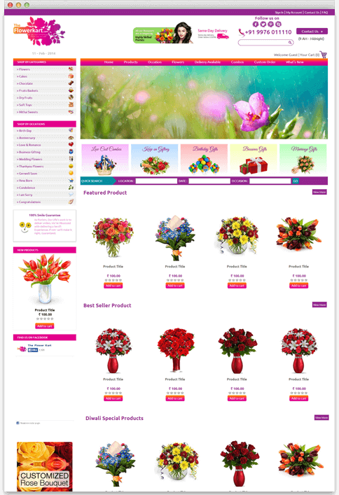 Flowerkart.com - WEB DESIGN WORK