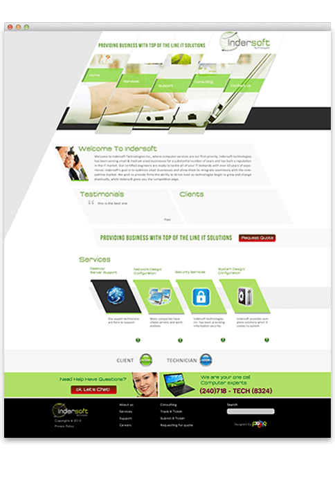 Indersoft Technologies - WEB DESIGN WORK