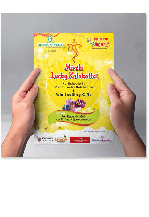 Mirchi Lucky Kolakattai poster - Print Design Work