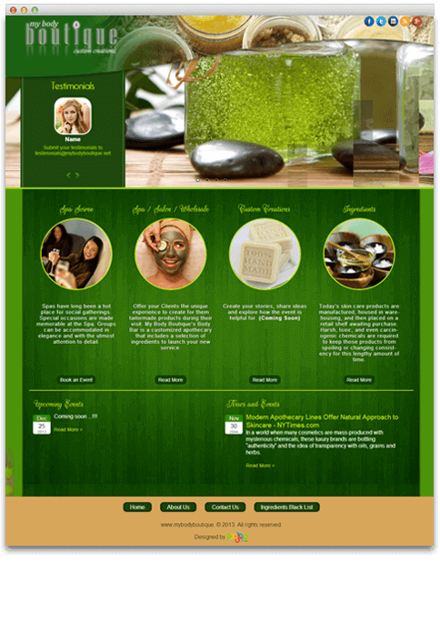 My Body Boutique - WEB DESIGN WORK