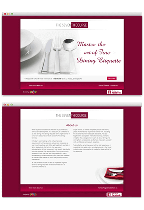 The Seventh Course - WEB DESIGN WORK