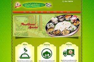 Amma's Restaurant - WEB DESIGN WORK