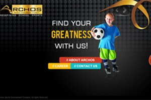 Archos Sports Development Company - WEB DESIGN WORK
