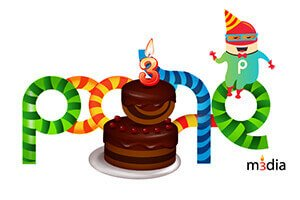 Poogle Media Birthday - Doodle Design Work