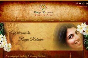 Raga Ratnam Creative Arts - WEB DESIGN WORK