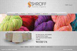 Shroff Textile Exports - WEB DESIGN WORK