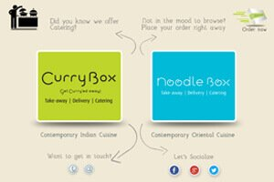 Currybox and Noodlebox - WEB DESIGN WORK